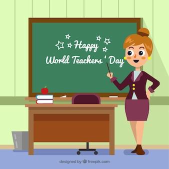 Fondo de feliz día mundial del maestro