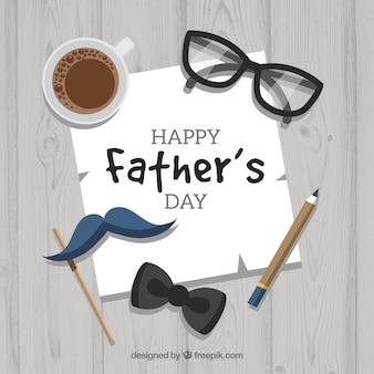 Fondo de feliz día del padre con elementos diferentes