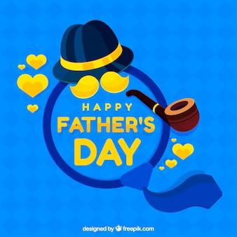 Fondo de feliz día del padre con elementos