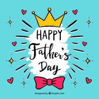 Fondo de feliz día del padre en estilo hecho a mano