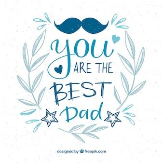 Fondo de feliz día del padre con lettering