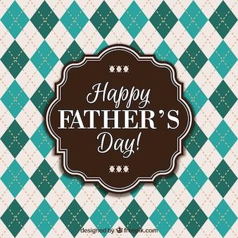 Fondo de feliz día del padre con rombos