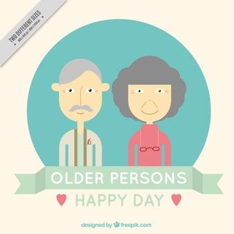Fondo de feliz día de las personas mayores