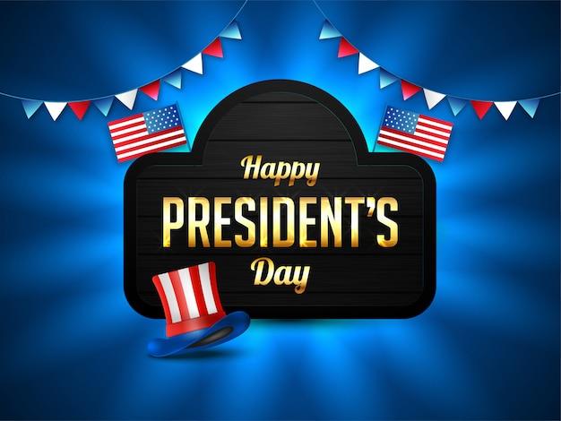 Fondo feliz día del presidente.