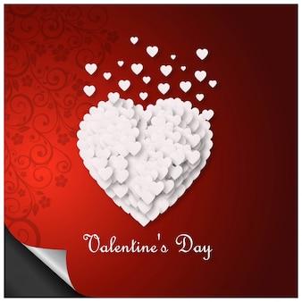 Fondo de feliz día de san valentín corazón