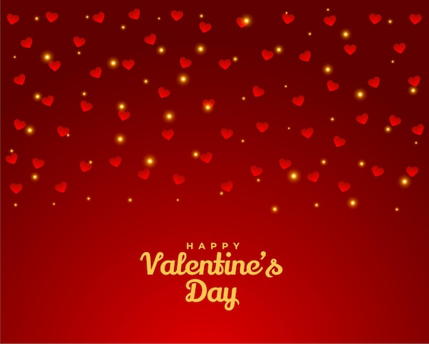 Fondo feliz del diseño de la tarjeta de felicitación de los corazones del día de tarjetas del día de san valentín