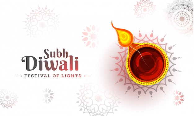 Fondo feliz de diwali.