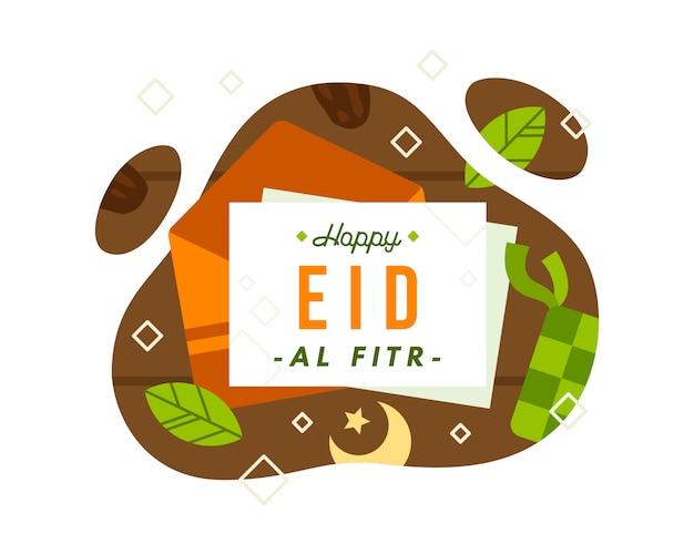 Fondo feliz de eid al fitr