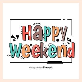 Fondo de feliz fin de semana