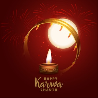 Fondo feliz de karwa chauth