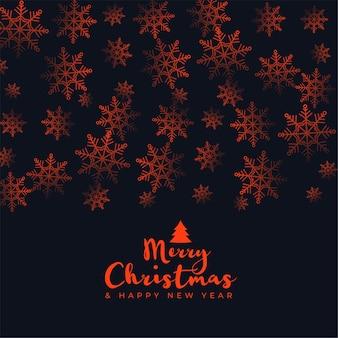 Fondo de feliz navidad con decoración de patrón de copos de nieve