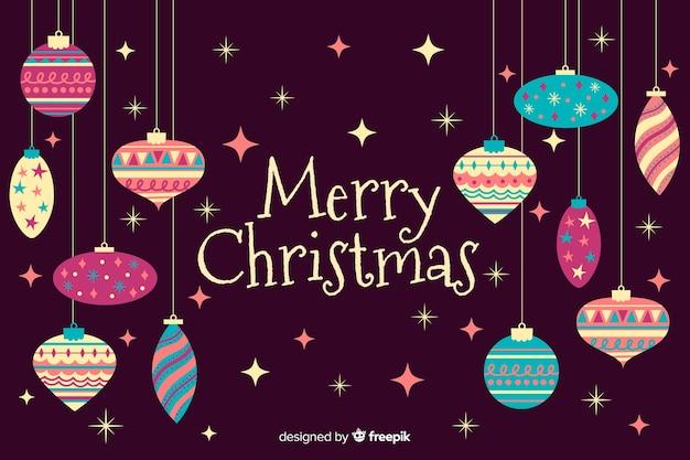 Fondo de feliz navidad dibujado a mano