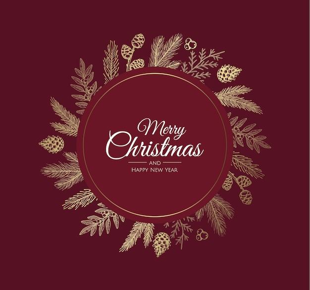Fondo de feliz navidad con elemento de navidad.