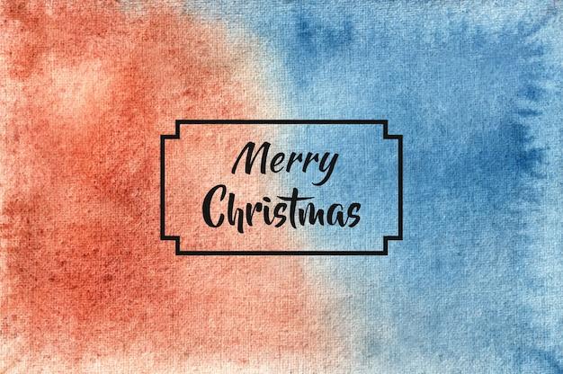 Fondo de feliz navidad en estilo acuarela