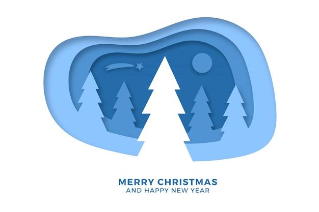 Fondo feliz navidad en estilo de papel