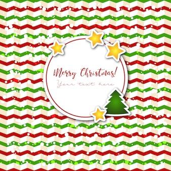 Fondo de feliz navidad con etiqueta para el texto