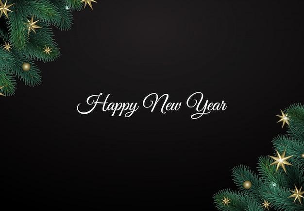 Fondo feliz navidad y feliz año nuevo
