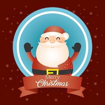 Fondo feliz navidad con santa claus