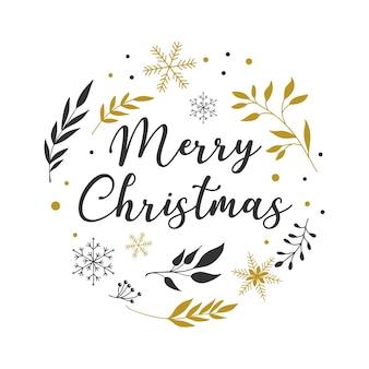 Fondo de feliz navidad con tipografía, letras. plantilla de tarjeta de felicitación simple minimalista