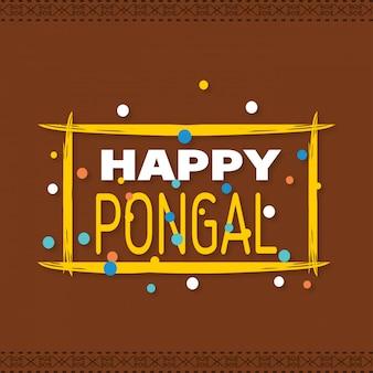 Fondo feliz pongal. ilustracion vectorial