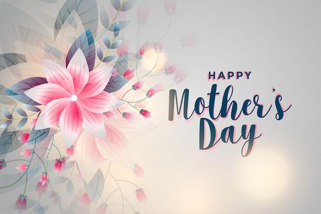 Fondo feliz del saludo de la flor del día de madre