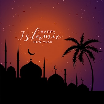 Fondo de festival de año nuevo islámico árabe