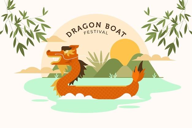 Fondo del festival del bote del dragón