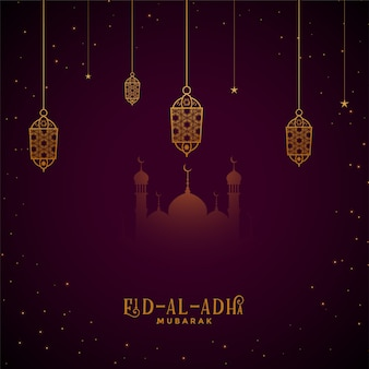 Fondo del festival eid al adha mubarak