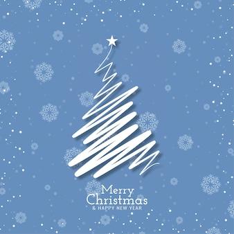 Fondo de festival de feliz navidad con árbol moderno