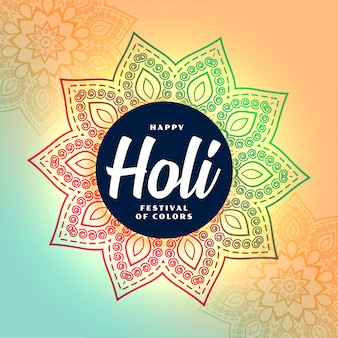 Fondo de festival de holi feliz de estilo tradicional indio