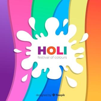 Fondo festival holi ondas coloridas