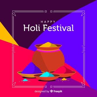 Fondo festival holi vasija gulal