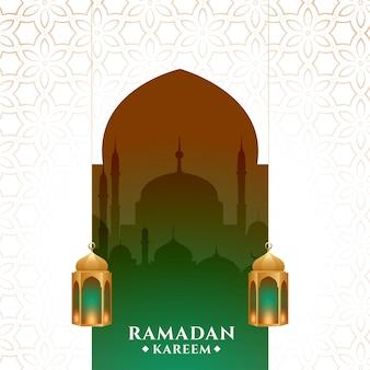 Fondo de festival de mes estacional de ramadán kareem