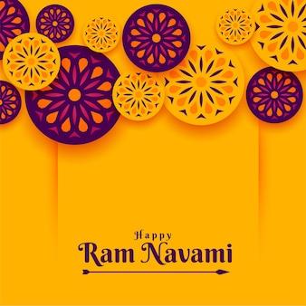 Fondo del festival ram navami de estilo indio