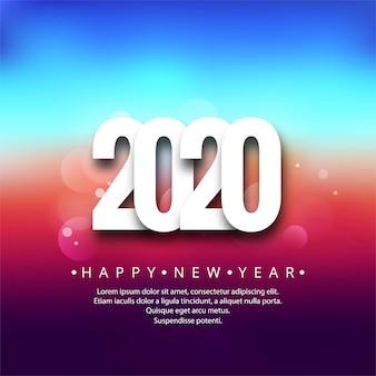 Fondo de festival de tarjeta colorida creativa de año nuevo 2020
