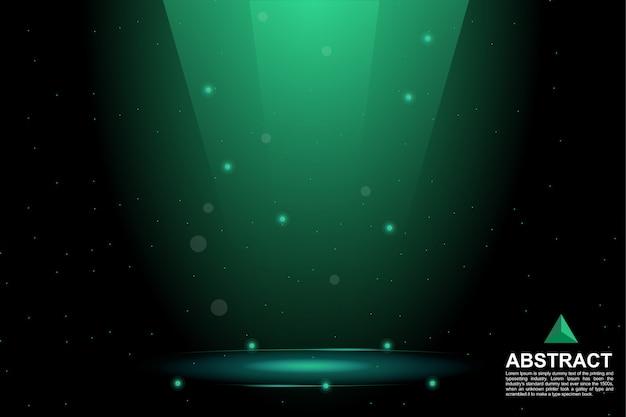 Fondo festivo de luz brillante verde oscuro