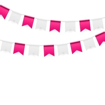 Fondo de fiesta con banderas ilustración vectorial. eps10