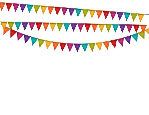 Fondo de fiesta con banderas