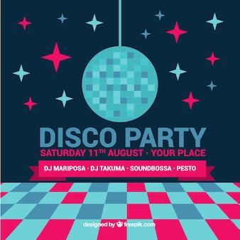 Fondo de fiesta con bola de discoteca