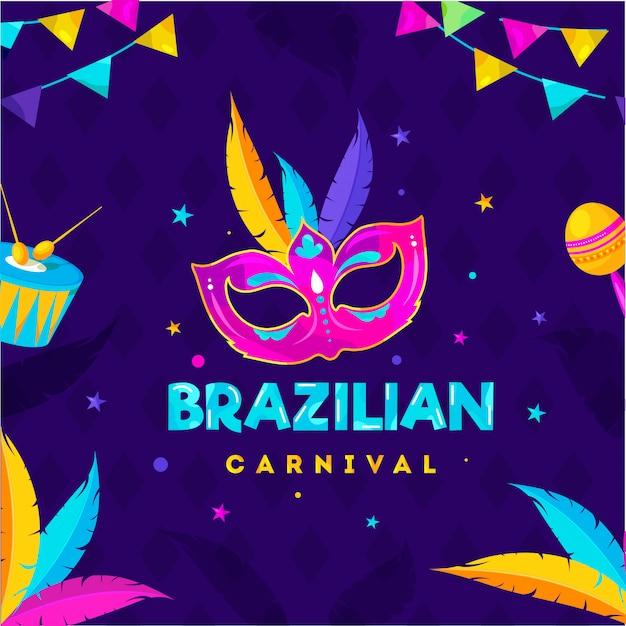 Fondo de fiesta de carnaval de brasil.