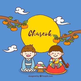 Fondo para la fiesta chuseok