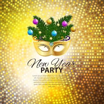 Fondo de fiesta de feliz navidad y año nuevo de belleza abstracta wi