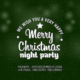 Fondo de fiesta feliz noche de navidad