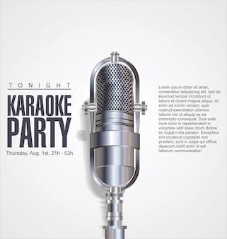 Fondo de fiesta de karaoke