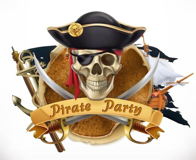 Fondo de fiesta pirata