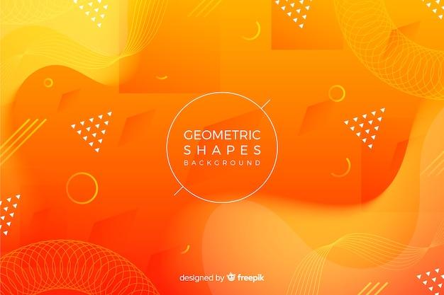 Fondo de figuras geométricas en 3d