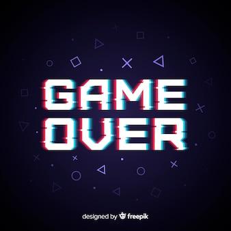 Fondo de fin del juego  con efecto glitch