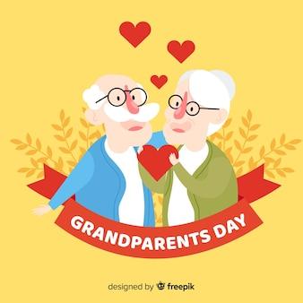 Fondo flat del día de los abuelos