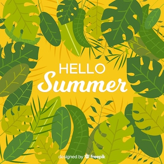 Fondo flat de hello summer