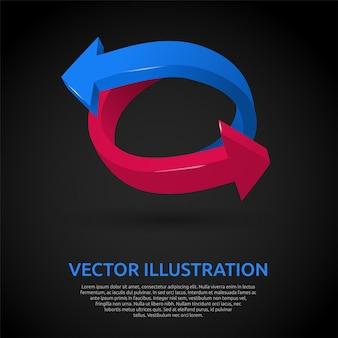 Fondo con flechas 3d ilustración vectorial